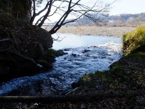 相模川に合流する大堀