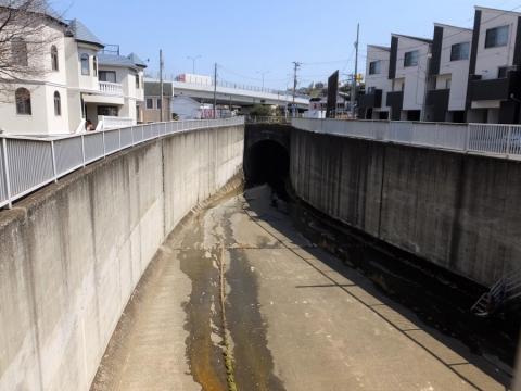 大岡川分水路・日野川トンネル入口