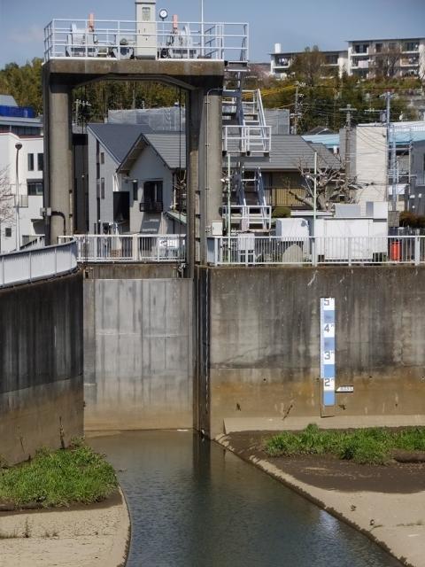 大岡川取水庭・大岡川水門