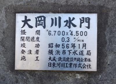 大岡川水門銘板