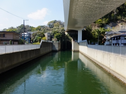 大岡川トンネル出口・大岡川分水路