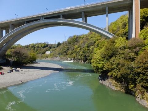 小倉橋より相模川上流の眺め