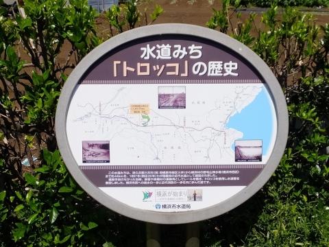 横浜水道みち・トロッコの歴史看板