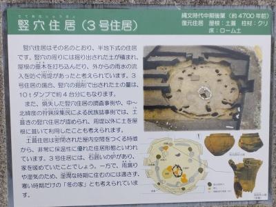 勝坂遺跡公園竪穴住居(3号住居)案内板