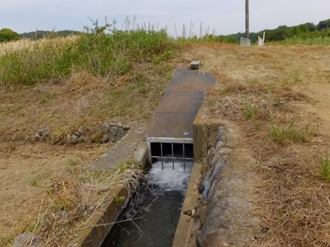 下河原川を伏越で潜った用水路の吐口