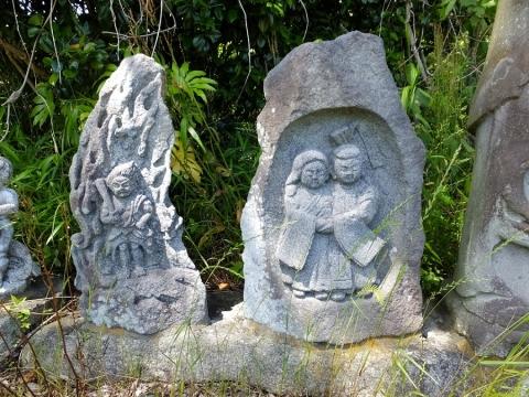 不動明王立像と双体道祖神