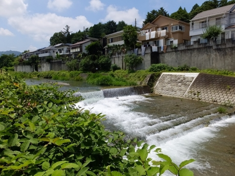 南浅川の床固工・古道橋付近