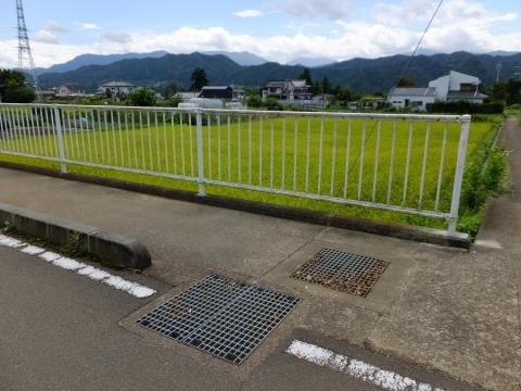 上野原用水・矢竹、塚場下の田んぼに分水