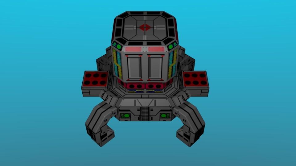 ステージ3ボス。砲身格納形態