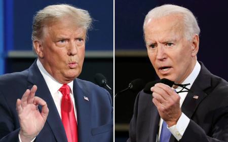 フリー写真 2020年11月3日大統領戦 トランプ大統領vsバイデン