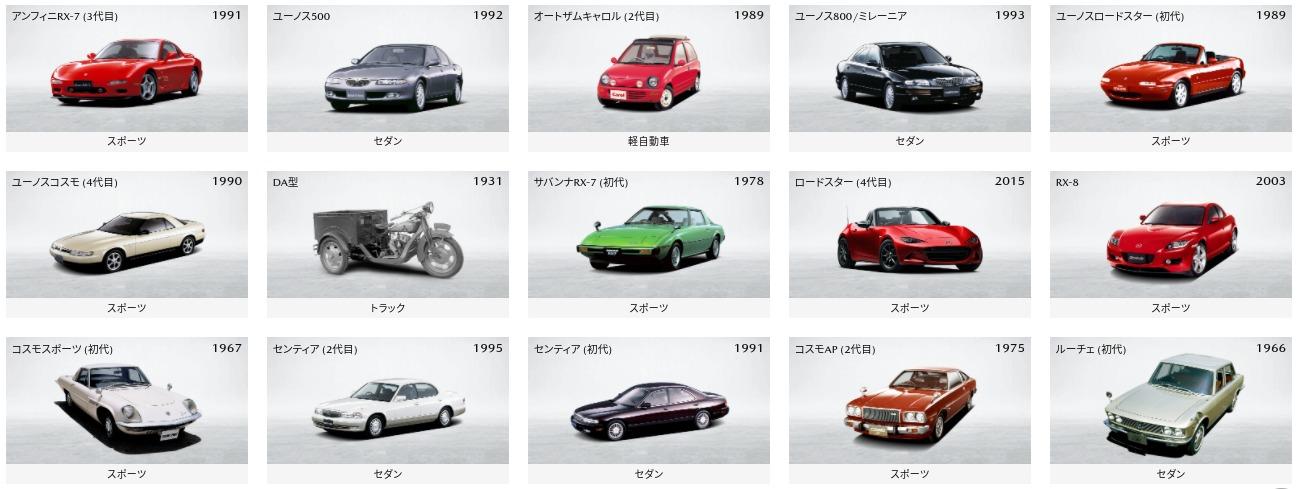 マツダ100周年サイト|歴代のマツダ車|マツダ (1)
