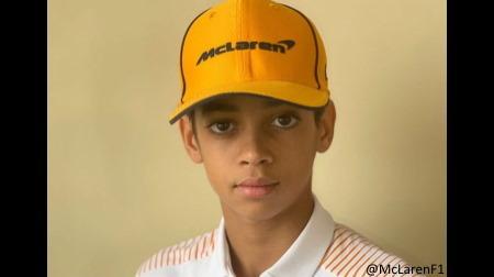 マクラーレンが13歳のアメリカ人カートチャンピオンと契約した模様