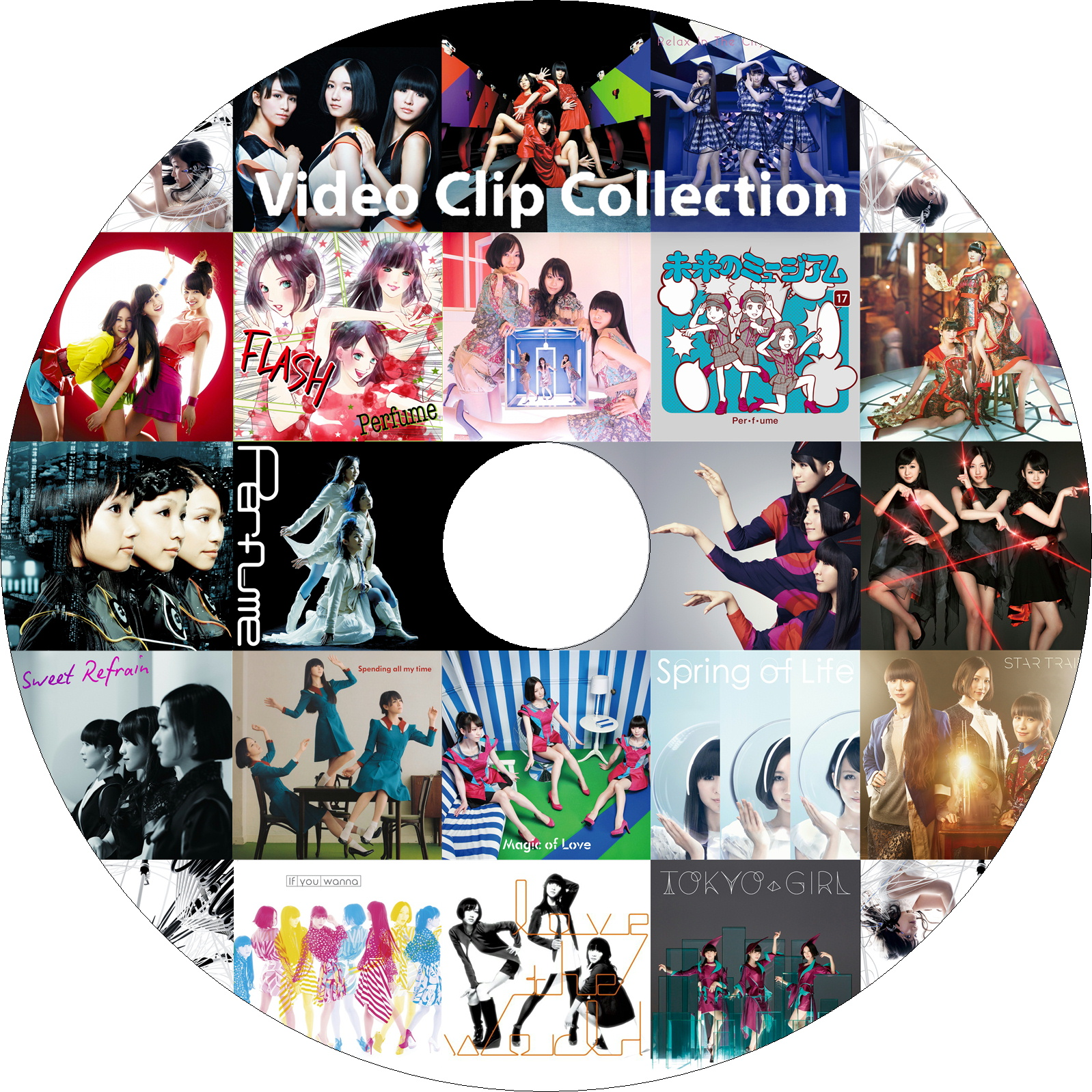 Perfume Video Clip Collection ラベル