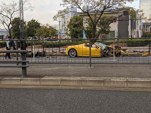 フェラーリ458スパイダー事故 (2)