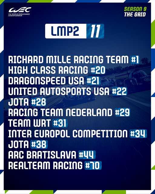 ル・マン24時間耐久レース2021グリッド (2)