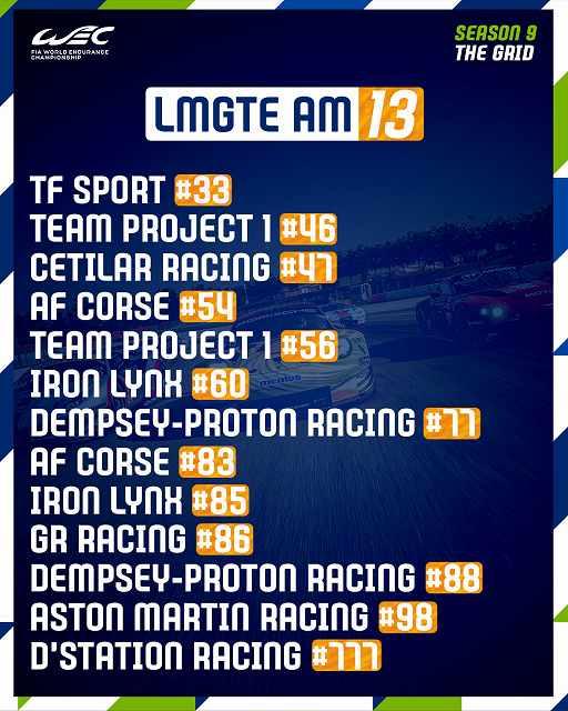 ル・マン24時間耐久レース2021グリッド (3)