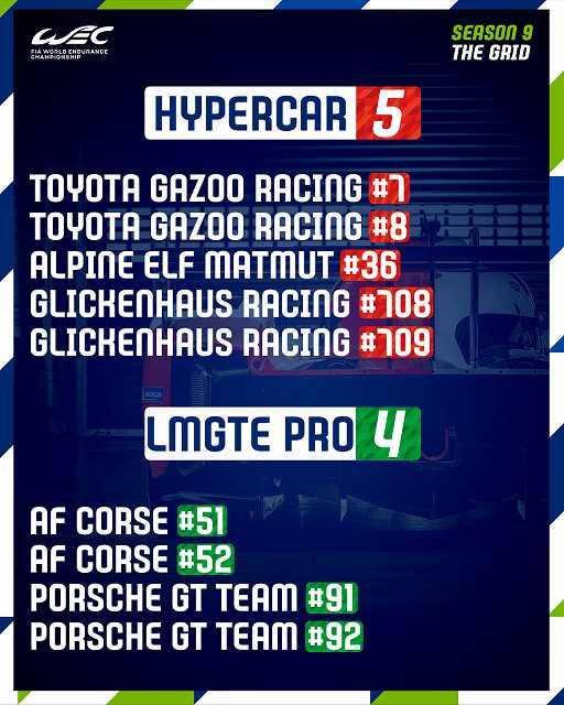 ル・マン24時間耐久レース2021グリッド (1)