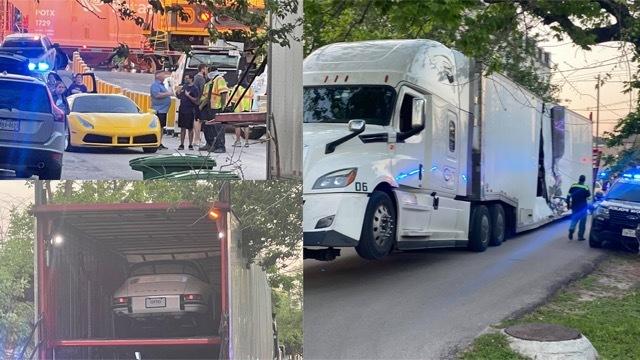 フェラーリSF90ストラダーレを積んだトラックと列車が事故1 2021-4-3