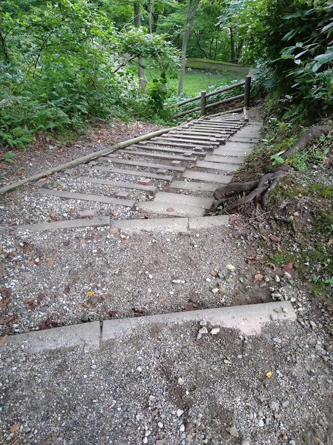 千秋公園 階段