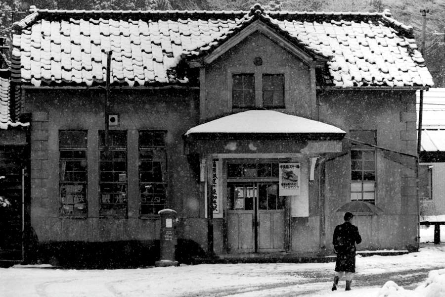 蒲原鉄道 東加茂駅1 1983年2月 16bitAdobeRGB原版 take1b2