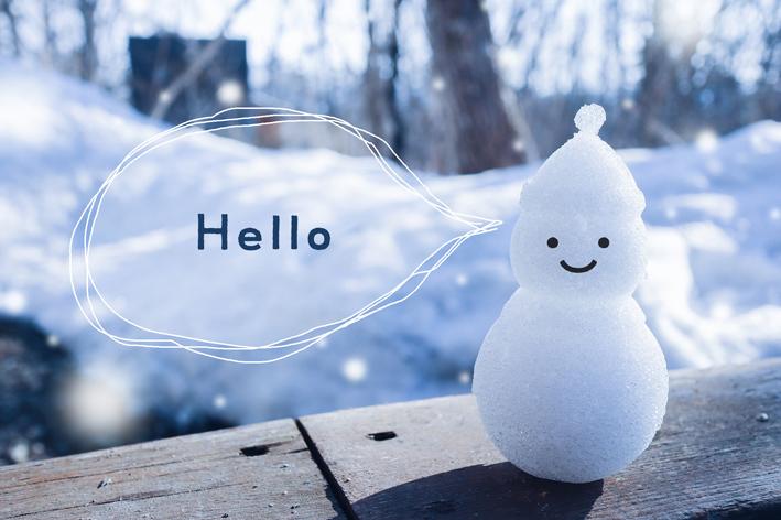 hallo雪だるま