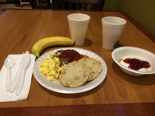 アメリカモーテル朝食イングリッシュマフィン1