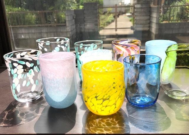 体験色ガラス