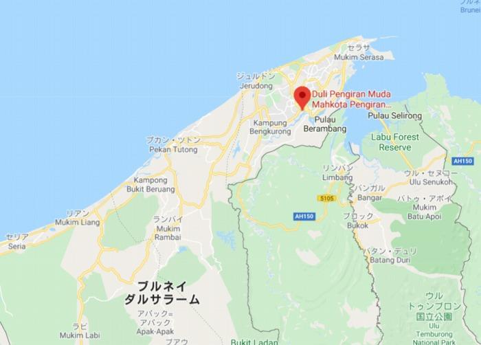ブルネイ地図