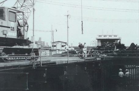 山谷堀 暗渠工事中(1984年)