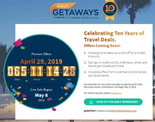 米国旅行協会が主催するプロモーションDaily Getaways を延期