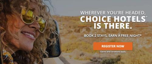 Choice Privileges 2滞在ごとに最大8,000ポイントのボーナスポイント(無料宿泊)1