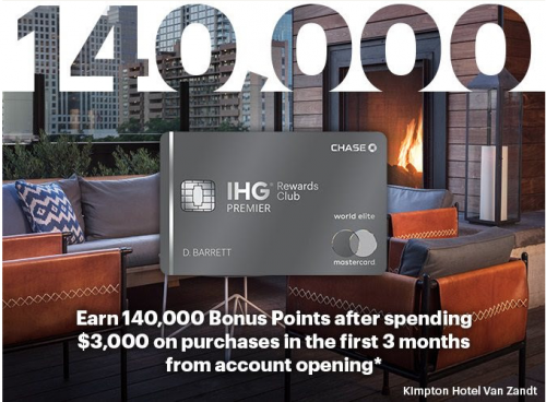 アメリカで発行されているIHGリワードクラブの提携クレジットカード