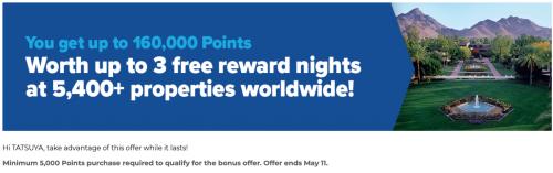 ヒルトンオナーズ ポイント購入で100%ボーナスポイントキャンペーン 2021年5月11日まで