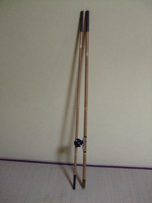 図-4 久慈川独特のリール竿