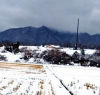 弥彦も雪景色