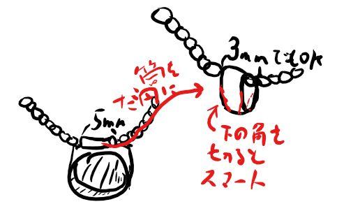 a覆輪留め ネックレス03