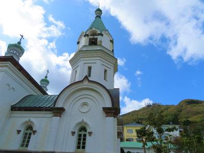 2020年ハリストス正教会と函館山