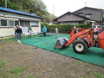 人工芝敷き4 ペ