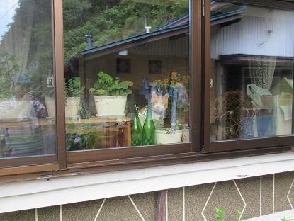 窓から外を見るソラ