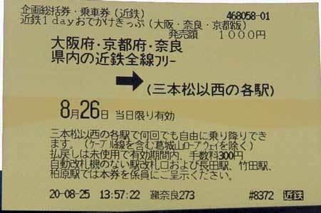 200825近鉄ふりーきっぷ
