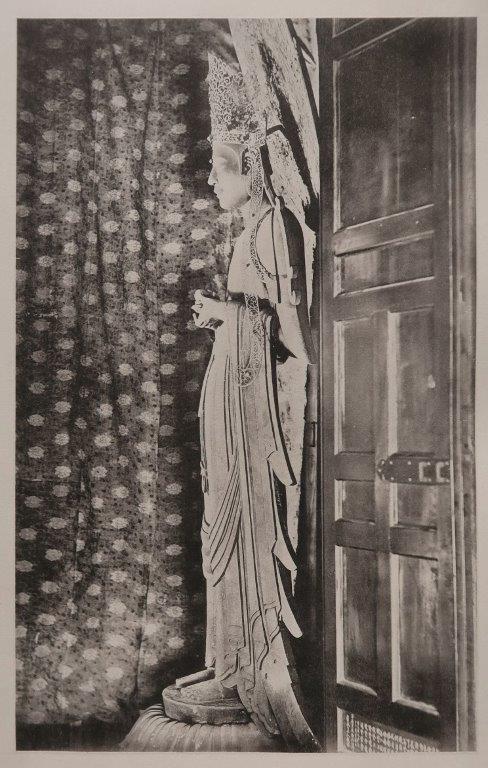 「稿本日本帝國美術略史」コロタイプ写真~法隆寺夢殿・救世観音像