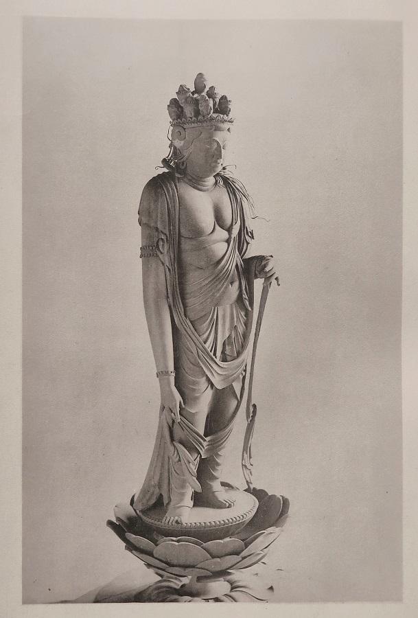 「稿本日本帝國美術略史」コロタイプ写真~法華寺・十一面観音像