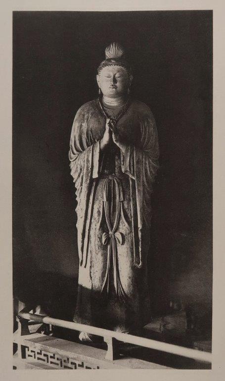 「稿本日本帝國美術略史」コロタイプ写真~東大寺法華堂・日光菩薩像