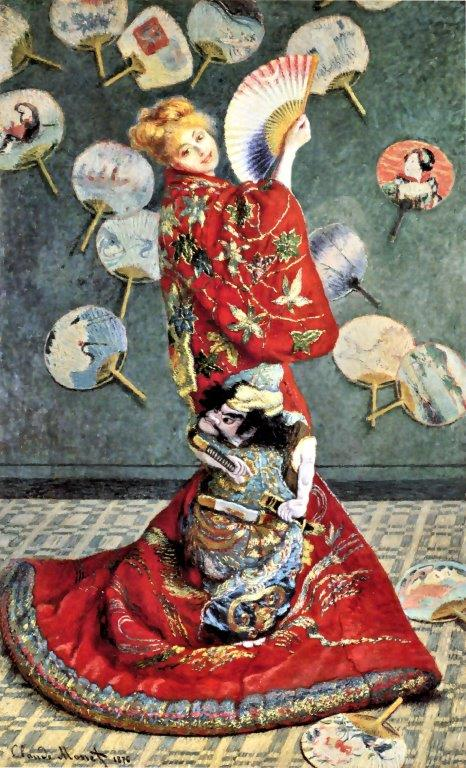 クロード・モネ「ラ・ジャポネーズ(着物をまとうカミーユ・モネ)」1876年