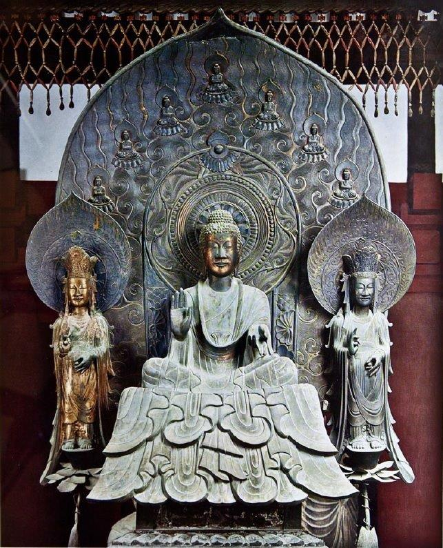 法隆寺金堂・釈迦三尊像