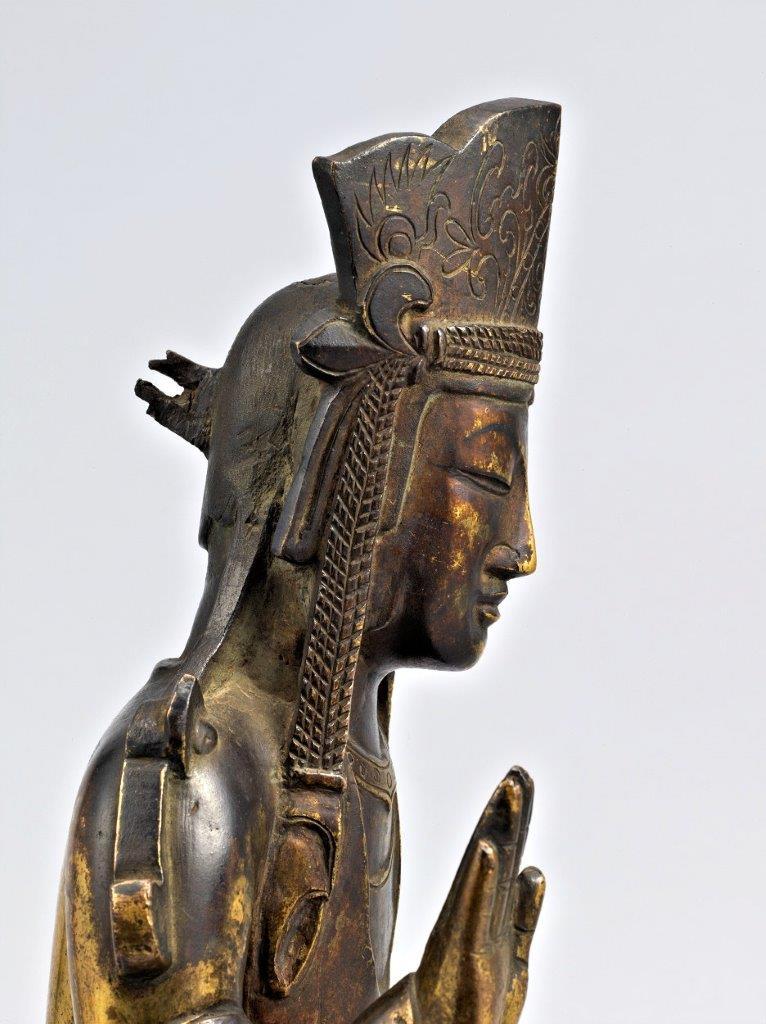 法隆寺献納宝物(四十八体仏)155号菩薩半跏像