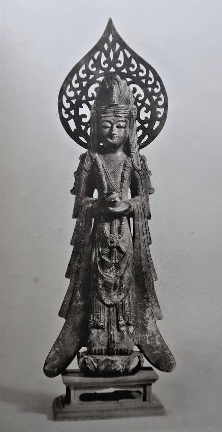 光背がつけられた献納宝物・四十八体仏(S22年刊「御物金銅仏」掲載写真)