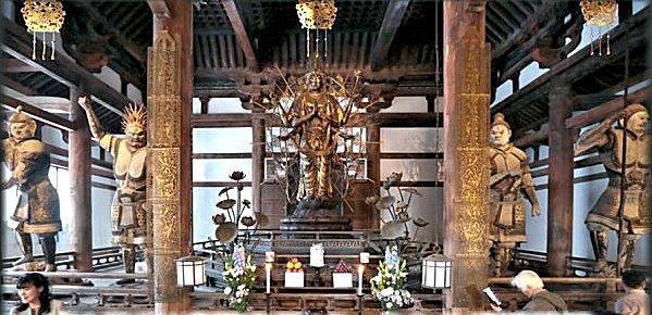 現在の法華堂の堂内安置仏像
