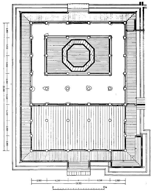 法華堂堂内平面図