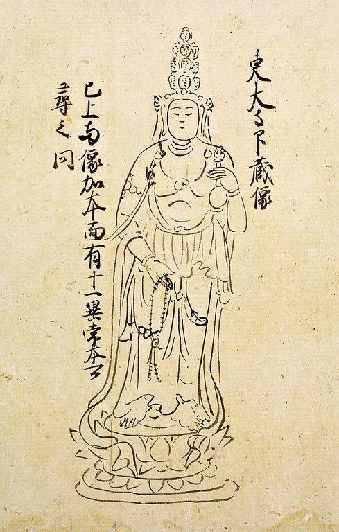 奈良博蔵「類秘抄」(鎌倉時代・重要文化財)に描かれた二月堂「小観音」の尊容